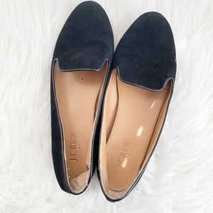 JCREW Black Suede Women's Loafers Tan Size 8M